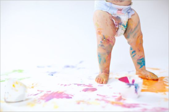 baby peinture